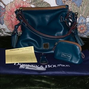 "Dooney & Bourke ""Tegan"" satchel w/accessories"